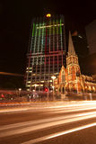 Brisbane, Australia - October 25th, 2014: Colour The City, visual light display in Brisbane City for the G20 meeting. Stock Image