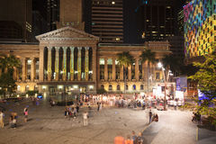 Brisbane, Australia - October 25th, 2014: Colour The City, visual light display in Brisbane City for the G20 meeting. Stock Photography