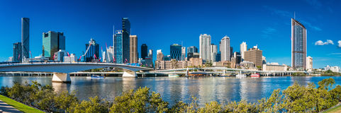 BRISBANE, AUSTRALIA, SEPT 13 2016:View of Brisbane from South Ba Royalty Free Stock Images