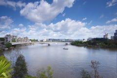 Brisbane, Australia - 26 settembre 2014: Vista dal punto del canguro che trascura la città ed il fiume di Brisbane durante il gio Immagini Stock Libere da Diritti