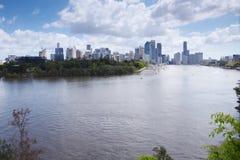 Brisbane, Australia - 26 settembre 2014: Vista dal punto del canguro che trascura la città ed il fiume di Brisbane durante il gio Fotografie Stock
