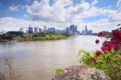 Brisbane, Australia - 26 settembre 2014: Vista dal punto del canguro che trascura la città ed il fiume di Brisbane durante il gio Immagini Stock