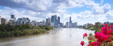 Brisbane, Australia - 26th September, 2014: View from Kangaroo point overlooking Brisbane City and river during the day. Royalty Free Stock Images