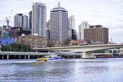 Brisbane, Australia - Tuesday 23rd June, 2015: View of Brisbane City in the afternoon from Southbank on Tuesday the 23rd June 2015 Royalty Free Stock Image