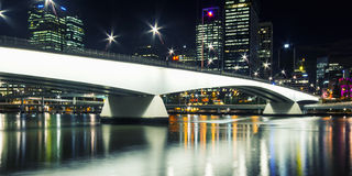 Brisbane, Australia - Tuesday 23rd June, 2015: View of Victoria Bridge and Brisbane City at night from Southbank on Tuesday the 23 Royalty Free Stock Image