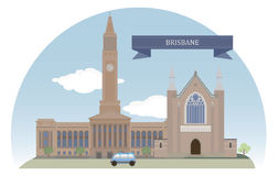 Brisbane. Australia. Vector for you design Royalty Free Stock Images