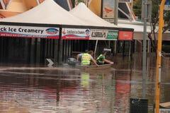 BRISBANE, AUSTRALIE - 13 JANVIER : Inondation Photo libre de droits