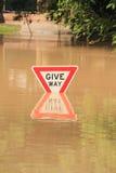 BRISBANE, AUSTRALIE - 13 JANVIER : Inondation Photographie stock libre de droits