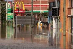 BRISBANE, AUSTRALIEN - 13. JANUAR: Flut Lizenzfreies Stockfoto