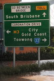 BRISBANE, AUSTRALIEN - 13. JANUAR: Flut Stockfotografie