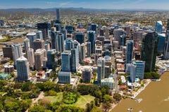 BRISBANE AUSTRALIEN - NOVEMBER 11 2014: Sikt av Brisbane från ai Arkivbild