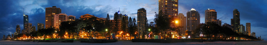 Gold Coast night view Royalty Free Stock Images