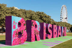 Brisbane beschriftet Straßenkunst in Südufer Parklands, Brisbane lizenzfreie stockbilder