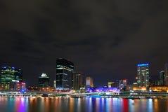 Brisbane bis zum Night Stockfoto