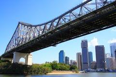 Brisbane bridge historię Fotografia Royalty Free