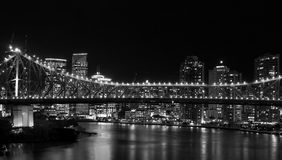 Brisbane Bridge at Night Royalty Free Stock Photography