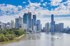 Brisbane CBD in daytime. View of Brisbane CBD and Brisbane River in daytime Stock Images