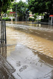 Brisbane CBD in grote vloedgebeurtenis Stock Afbeeldingen