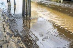 Brisbane CBD nella grande inondazione Immagine Stock Libera da Diritti