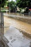 Brisbane CBD nella grande inondazione Immagini Stock