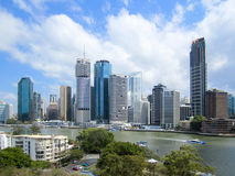 Brisbane Central Business District and River Stock Image