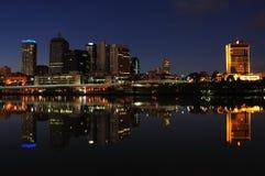 Brisbane chez Nigth photos stock