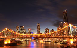 Brisbane City. Story Bridge in Brisbane, Queensland Royalty Free Stock Photography