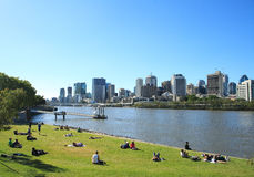 Brisbane city. In the afternoon stock photos