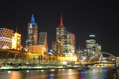 Brisbane City. Night shot of Brisbane City along the River royalty free stock photo