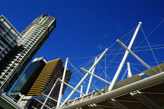 Brisbane city, Australia. Brisbane city and pedestrian bridge, QLD Australia Royalty Free Stock Image