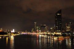 Brisbane City, Australia. View of Brisbane at night Stock Images