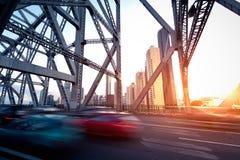Brisbane city bridge Royalty Free Stock Photo
