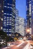 Brisbane city buildings at night. Australian Brisbane city night view Royalty Free Stock Images