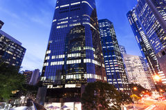 Brisbane city buildings at night Stock Image
