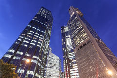Brisbane city buildings at night. A close-up of Australian Brisbane city buildings at night Royalty Free Stock Images