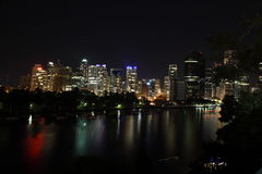 Brisbane City during Earth Hour 2011 royalty free stock photos