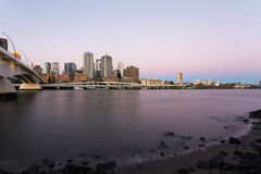 Brisbane city, evening view Royalty Free Stock Image