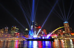 The Brisbane City Festival of Lights September 12 Royalty Free Stock Image