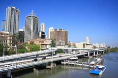 Brisbane City Highway Stock Photos