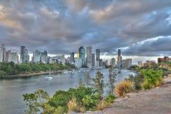 Brisbane City from Kangaroo Point Cliffs. Overlooking Brisbane City and Brisbane river from Kangaroo Point Cliffs Royalty Free Stock Images