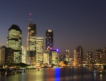 Brisbane city at night Stock Images