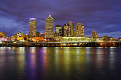 Brisbane City At Night. Beautiful Brisbane City Riverside At Night In Queensland, Australia stock photography