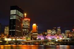 Brisbane City At Night. Beautiful Brisbane City Riverside At Night In Queensland, Australia Royalty Free Stock Photography