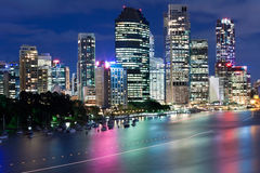 Brisbane city at night Royalty Free Stock Photo