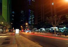 Brisbane city night Stock Image