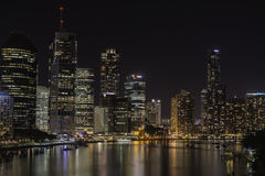 Brisbane City at night Australia Royalty Free Stock Photo