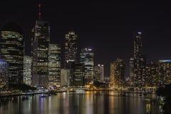 Brisbane City at night Australia Royalty Free Stock Photo