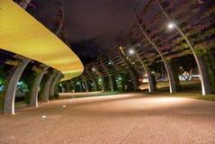 Brisbane City At Night - Queensland - Australia. Brisbane City - Southbank footpath at night - Queensland - Australia Stock Image