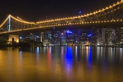 Brisbane City Night Skyline 1 Stock Photography