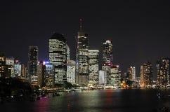 Brisbane city night view Stock Photos